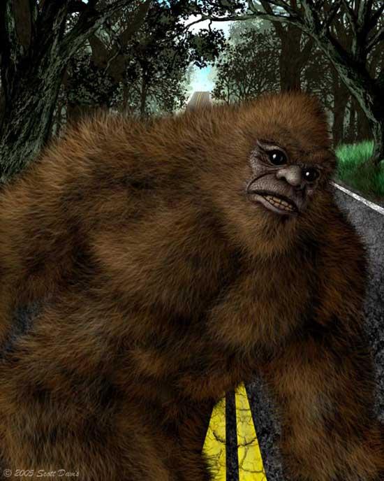 Oregon Bigfoot Art, Drawings and Paintings